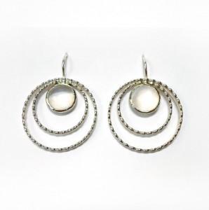Ohrringe aus Silber mit Mondstein